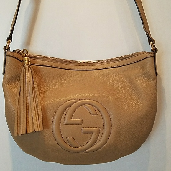 7e41e9fca8fd Gucci Bags | Tan Pebbled Leather Soho Messenger Bag | Poshmark